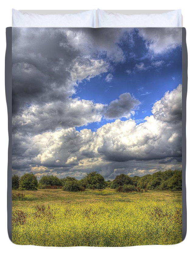Meadow Duvet Cover featuring the photograph The Meadow by David Pyatt