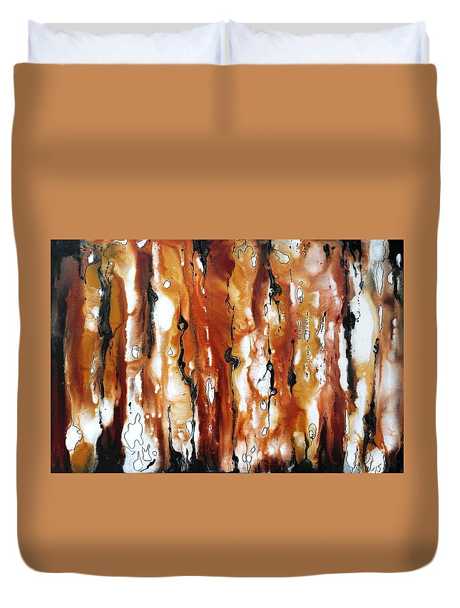 Melting Pot Duvet Cover featuring the painting The Melting Pot by Pat Purdy