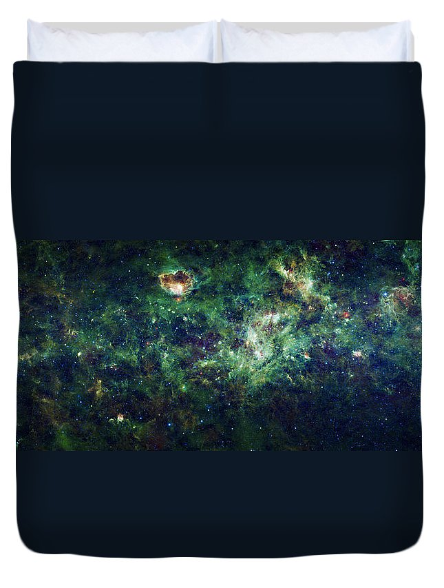 3scape Duvet Cover featuring the photograph The Milky Way by Adam Romanowicz