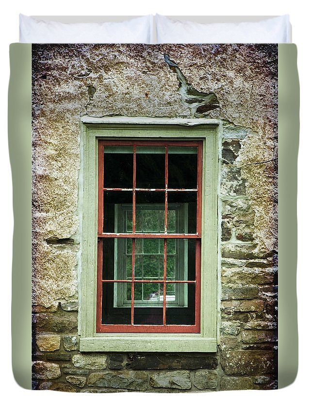 Window Duvet Cover featuring the photograph The Mill Window by Debra Fedchin