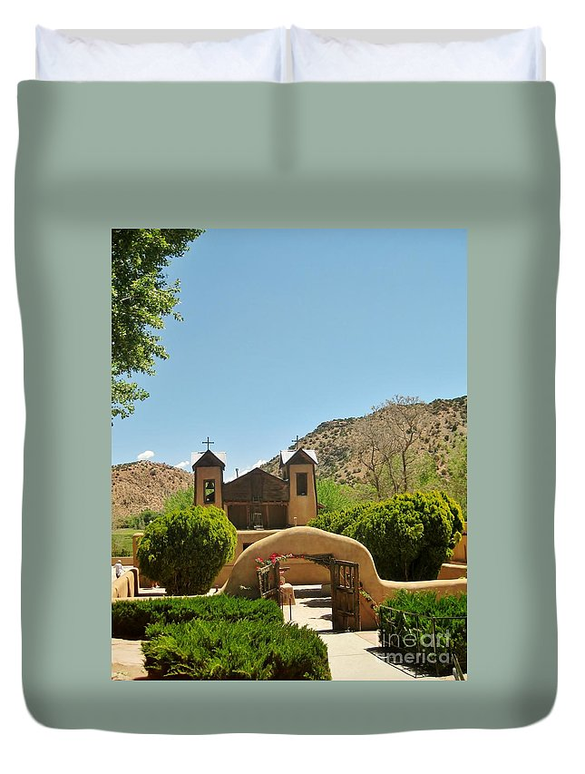New Mexico Duvet Cover featuring the photograph The Mission by MAK Photography