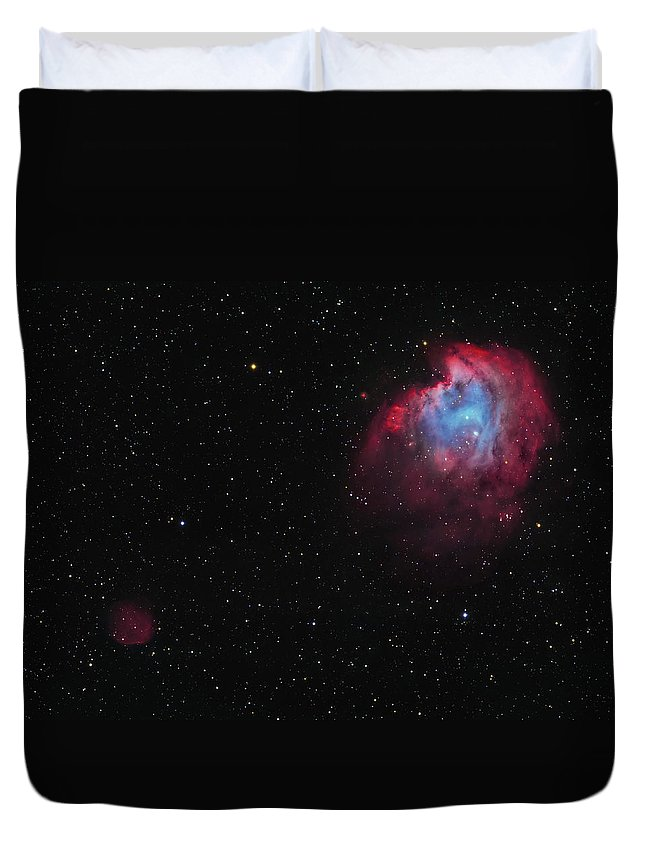 Horizontal Duvet Cover featuring the photograph The Monkey Head Nebula And Sh2-247 by Lorand Fenyes