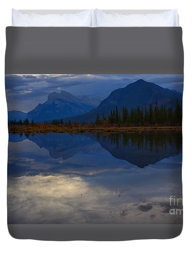 Banff National Park Duvet Cover featuring the photograph The Morning Blues by James Anderson