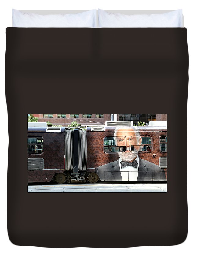 The Most Interesting Man In The World Duvet Cover featuring the photograph The Most Interesting Man In The World by Andrew Fare