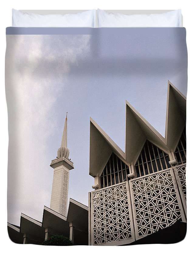 Asia Duvet Cover featuring the photograph The National Mosque Kuala Lumpur by Shaun Higson