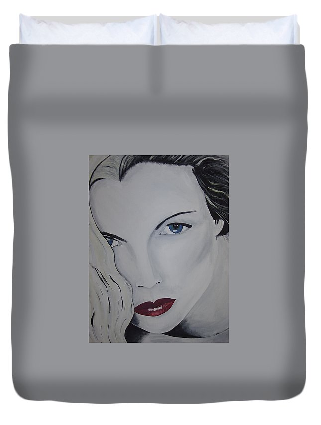 Beauty Duvet Cover featuring the painting The Natural by Dean Stephens