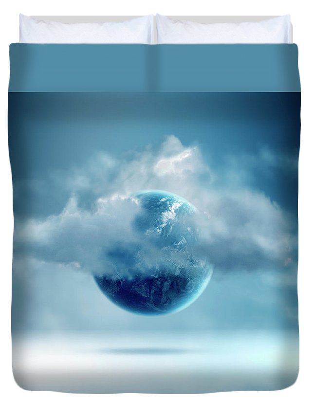 Tranquility Duvet Cover featuring the photograph The New World Of Cloud Computing by Colin Anderson