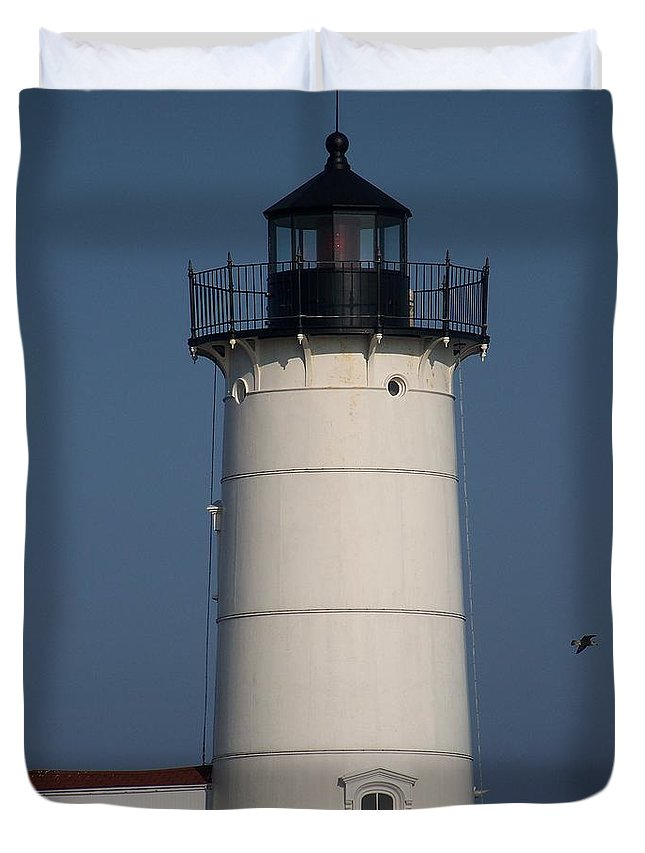 Lighthouse Duvet Cover featuring the photograph Lighthouse by Eunice Miller