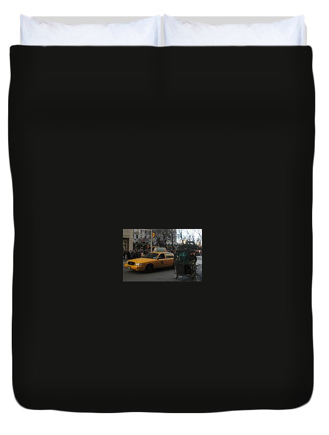 Cityscape Duvet Cover featuring the photograph The Old And The New by Melissa McCrann