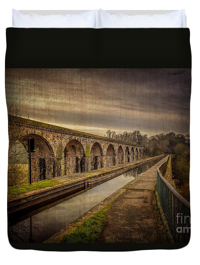 Chirk Aqueduct Duvet Cover featuring the photograph The Old Aqueduct by Adrian Evans