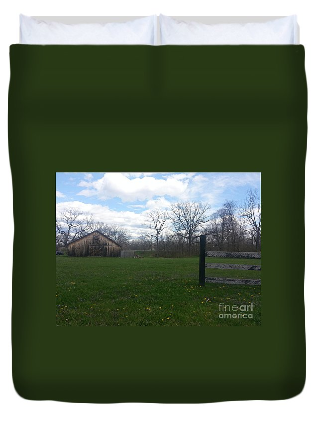 Old Duvet Cover featuring the photograph The Old Barn by Christy Gendalia