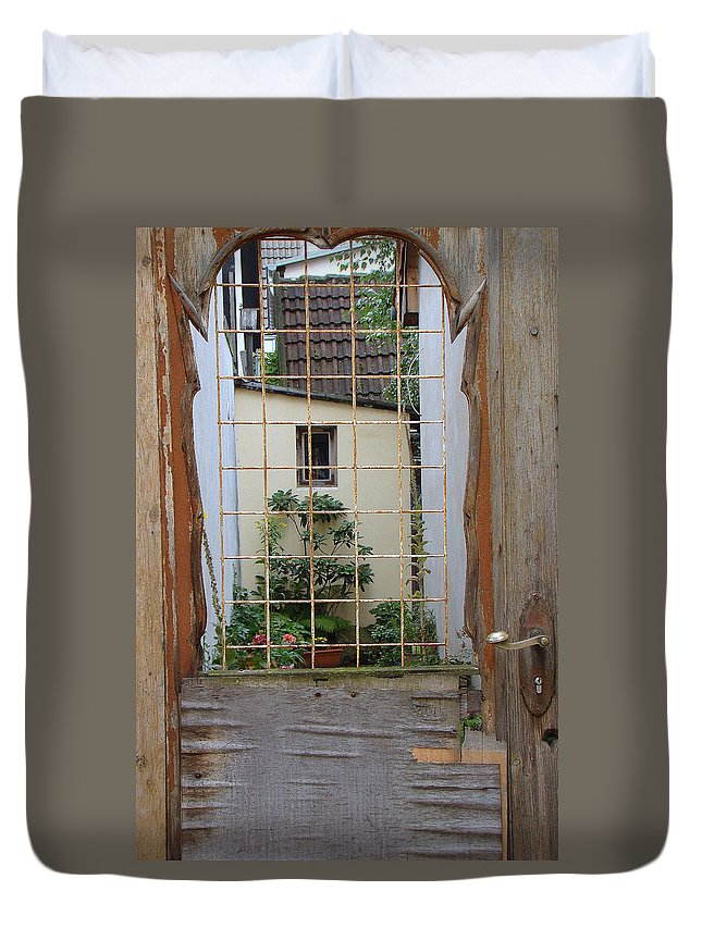 Old Door Duvet Cover featuring the photograph Memories Made Beyond This Old Door by Richard Rosenshein