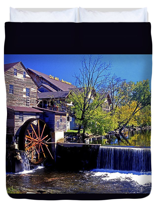 Mill Duvet Cover featuring the photograph The Old Mill by Paul W Faust - Impressions of Light