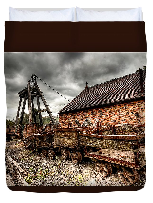 Architecture Duvet Cover featuring the photograph The Old Mine by Adrian Evans