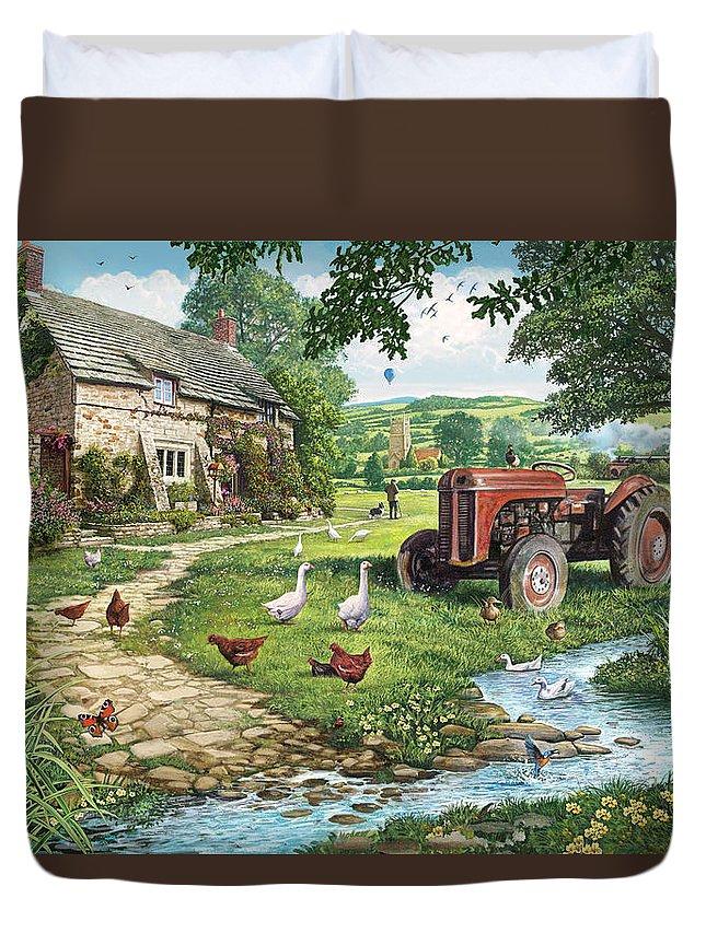 English Cottage Photographs Duvet Covers