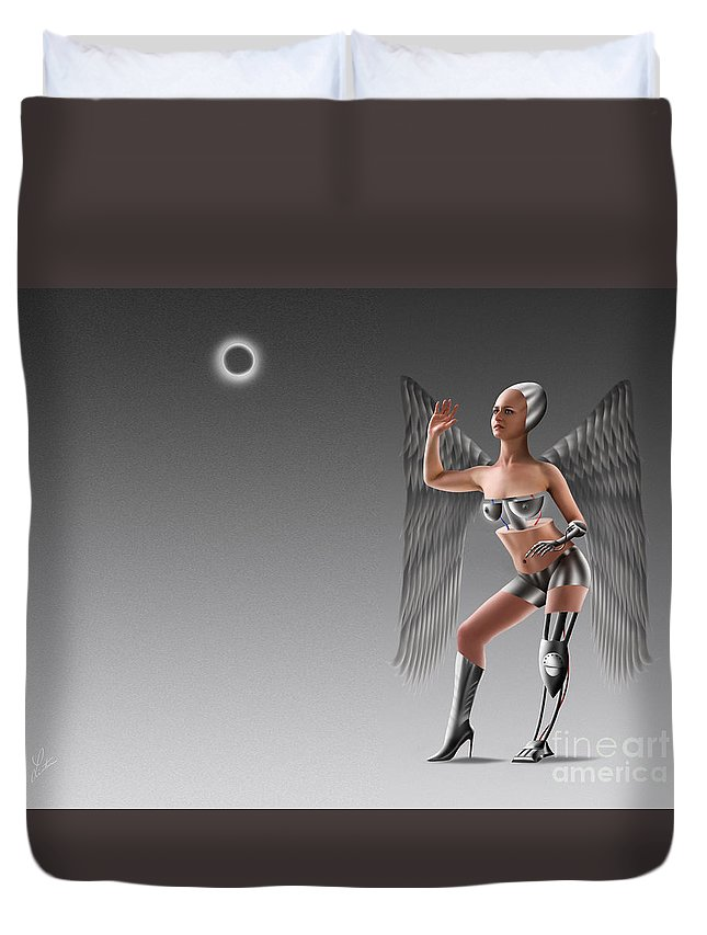 Nudes Duvet Cover featuring the digital art The Orb by Linton Hart