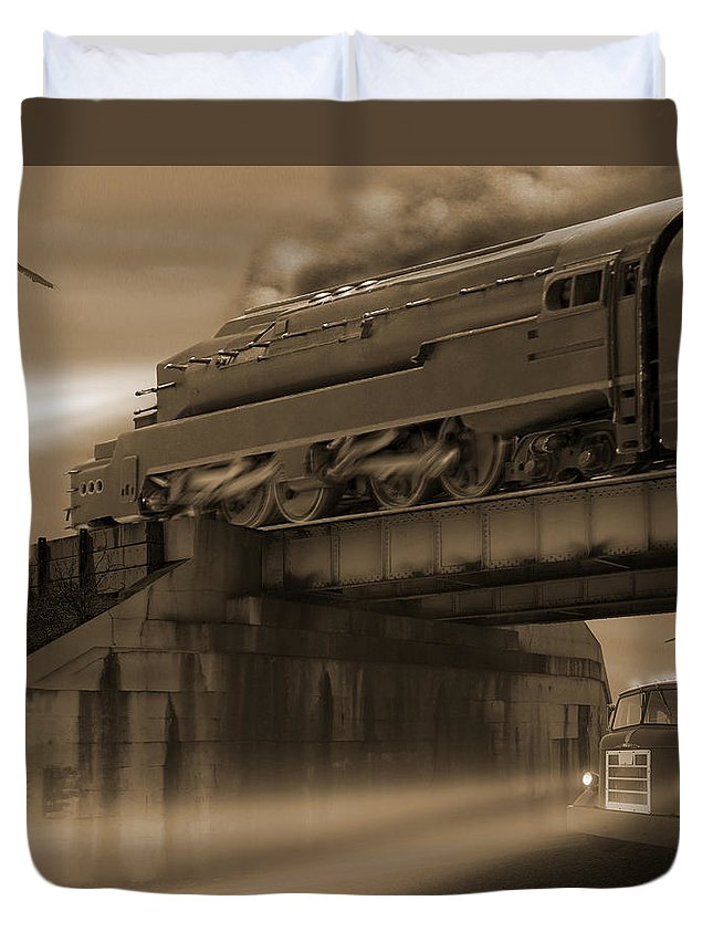 Transportation Duvet Cover featuring the photograph The Overpass 2 by Mike McGlothlen