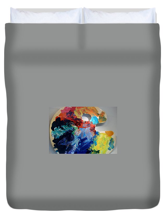 Abstract Duvet Cover featuring the photograph The Palet by Rob Hans