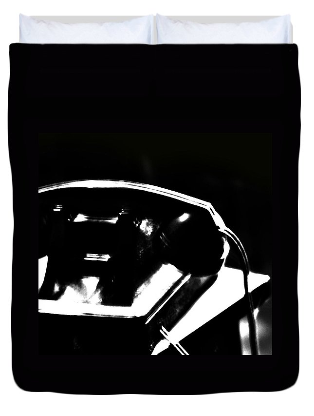 Phone Duvet Cover featuring the photograph The Phones by The Artist Project