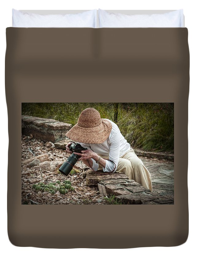Photographer Duvet Cover featuring the photograph The Photographer by Linda Unger