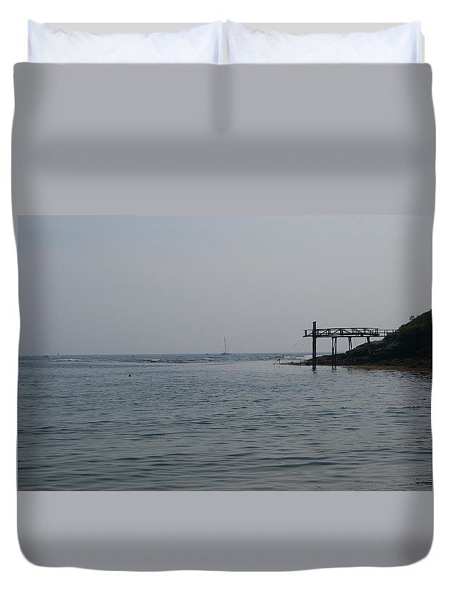 Pier Duvet Cover featuring the photograph The Pier by Amy-Elizabeth Toomey