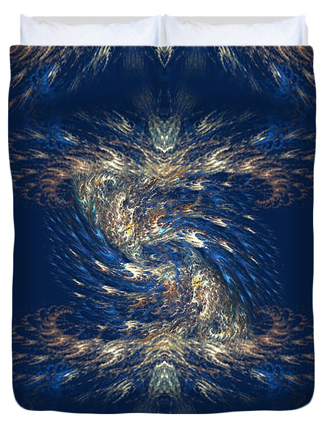The-playground-in-my-mind-3 Duvet Cover featuring the digital art The Playground In My Mind 3 - Abstract Fantasy Art By Giada Rossi by Giada Rossi