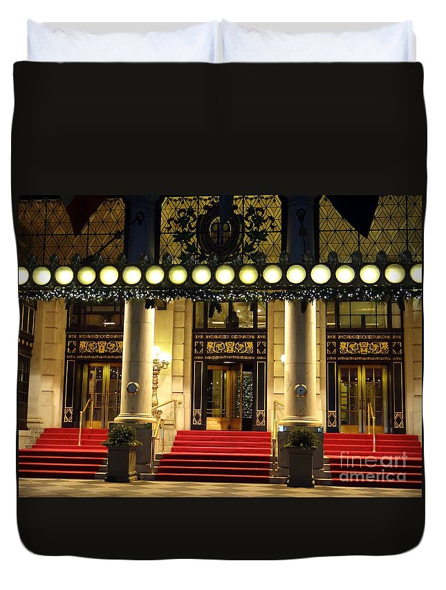 Plaza Hotel Duvet Cover featuring the photograph The Plaza Hotel by Ed Weidman