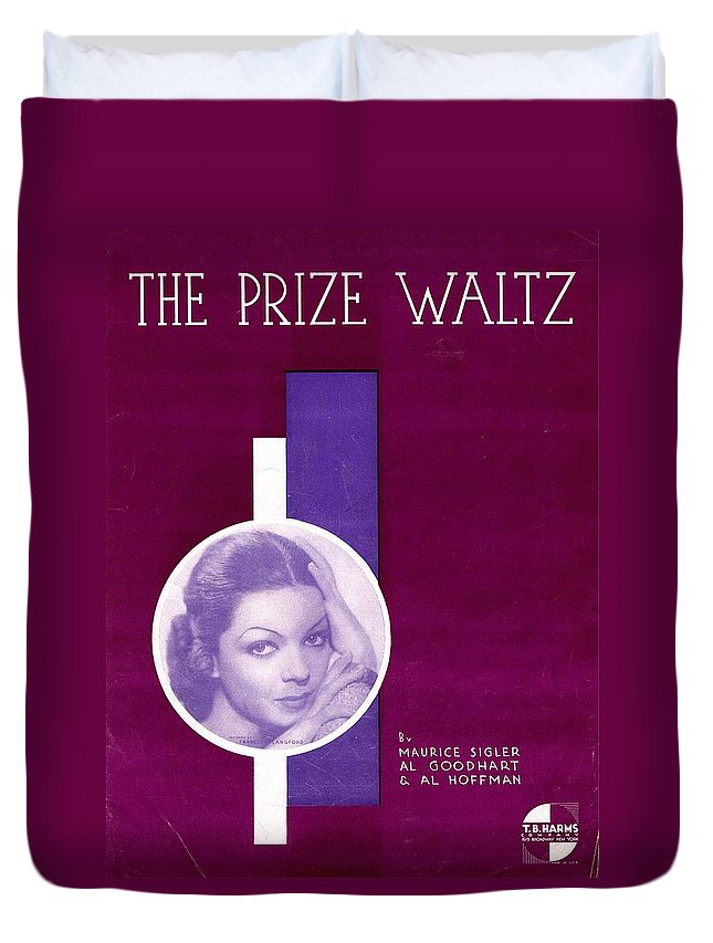 Nostalgia Duvet Cover featuring the photograph The Prize Waltz by Mel Thompson