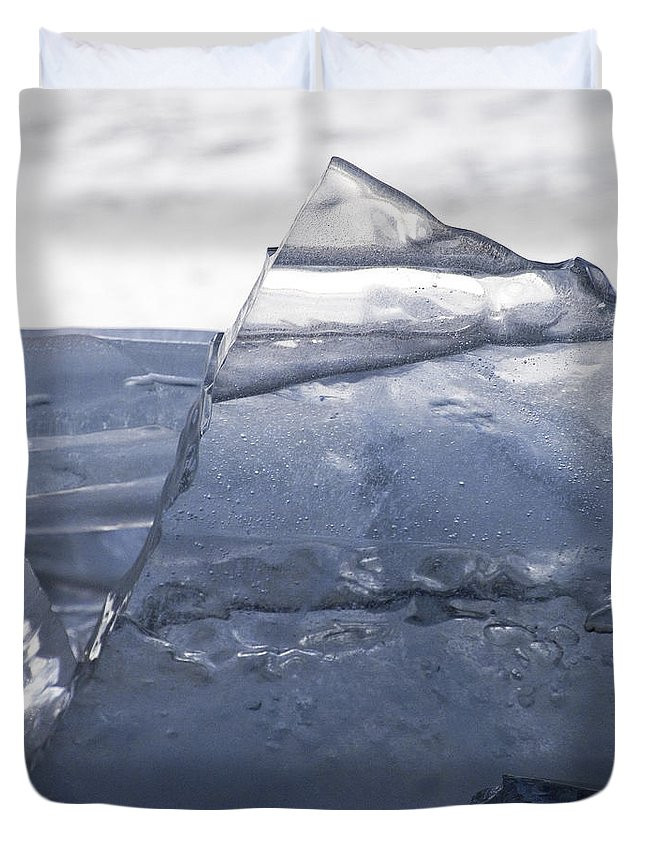 Ice Duvet Cover featuring the photograph The Pyramid by J L Woody Wooden