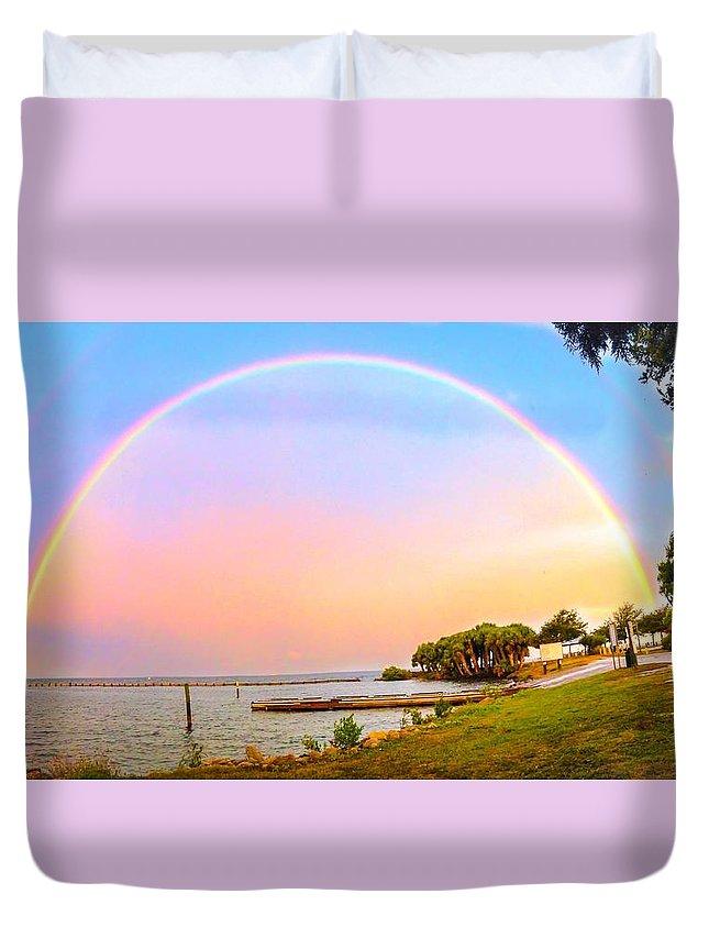Rainbow Duvet Cover featuring the photograph The Rainbow by Carlos Avila