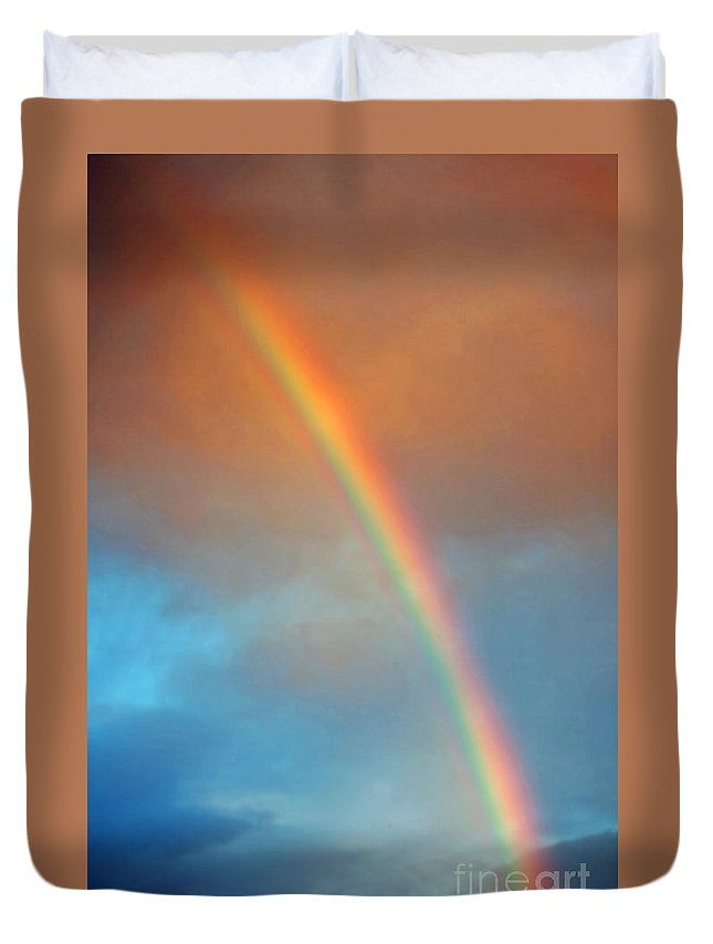 Rainbow Duvet Cover featuring the photograph The Rainbow by Gwyn Newcombe