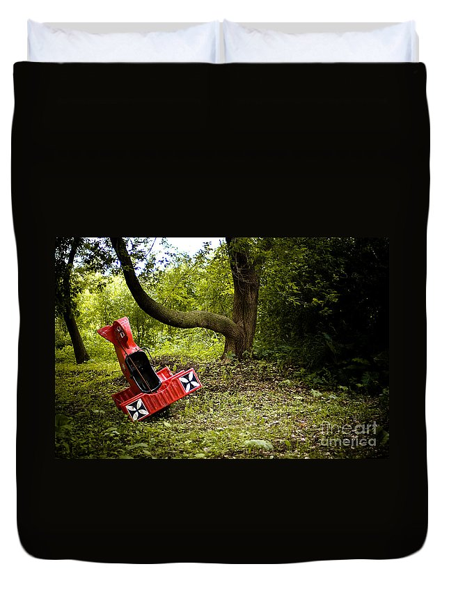 Transportation Duvet Cover featuring the photograph The Red Baron by Joe Mamer