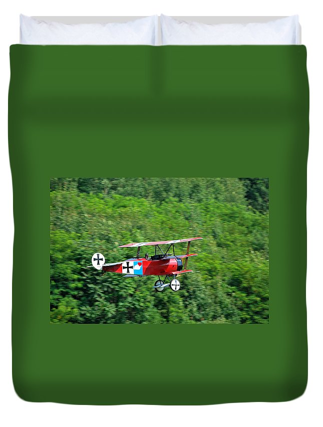 Arnstorming Duvet Cover featuring the photograph the Red Baron by Kurt Von Dietsch