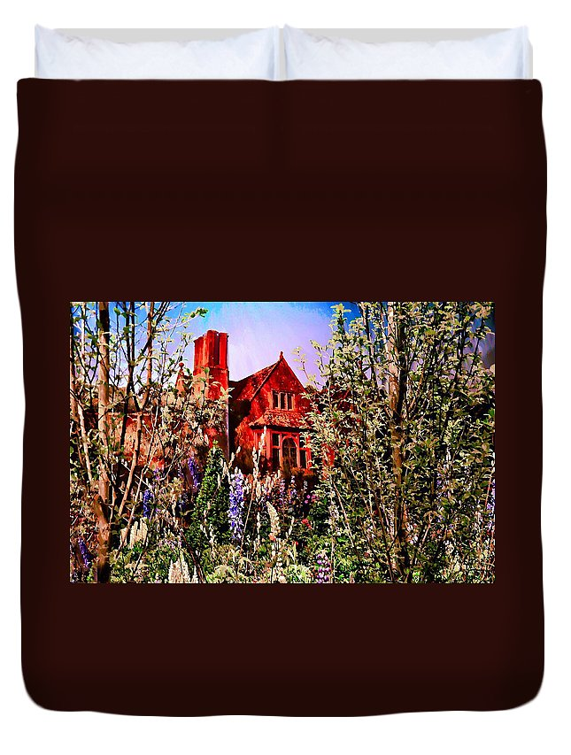 The Red House Duvet Cover featuring the photograph The Red House by Bill Cannon