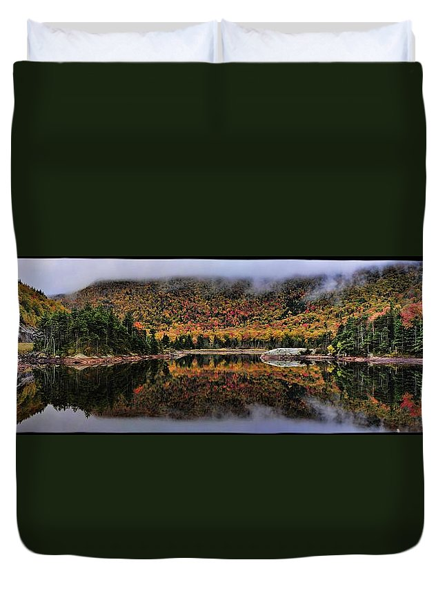 Sky Duvet Cover featuring the photograph The Reflection by Jes Fritze