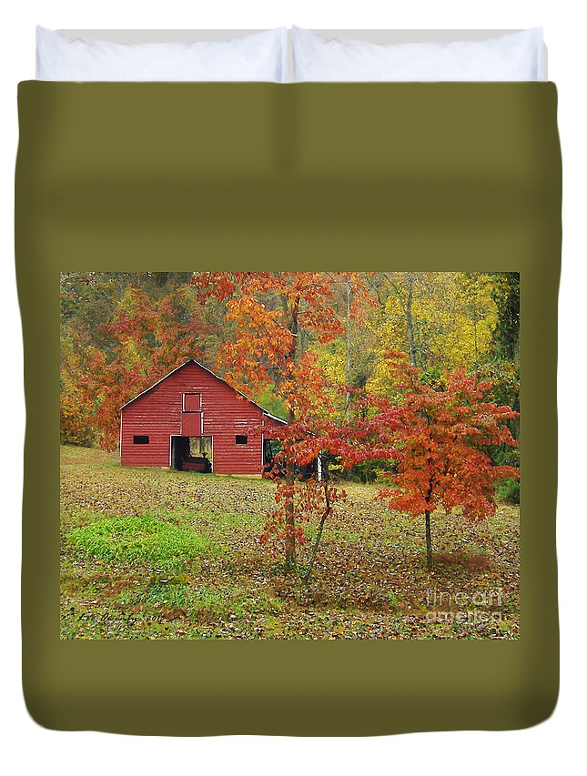 Barn Duvet Cover featuring the photograph The Rice Barn by Lee Owenby
