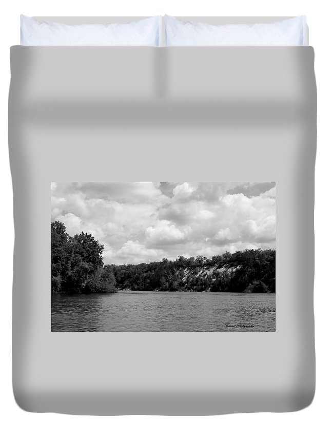River Duvet Cover featuring the photograph The Ridge by Debra Forand