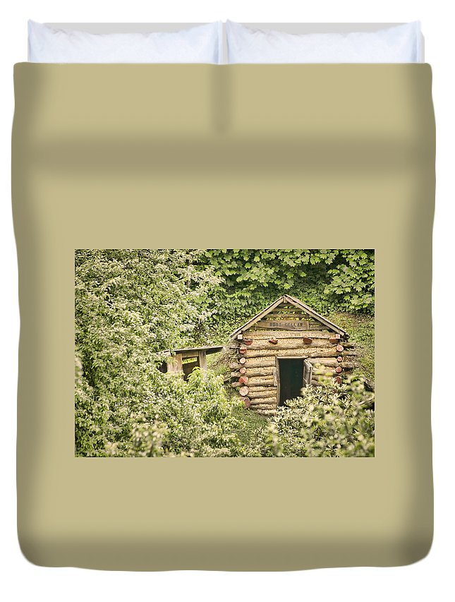 Rustic Duvet Cover featuring the photograph The Root Cellar by Heather Applegate