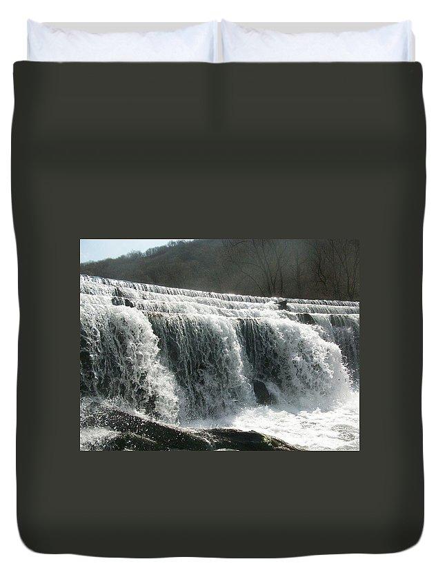 Monsal Duvet Cover featuring the photograph The Rush by Asa Jones