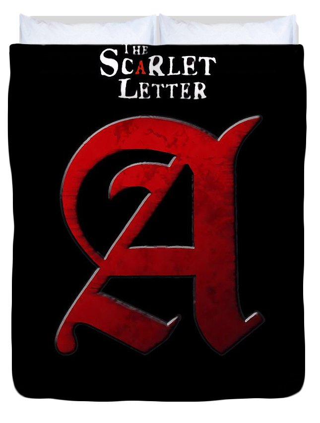 The Scarlet Letter Duvet Cover featuring the digital art The Scarlet Letter by Dan Sproul