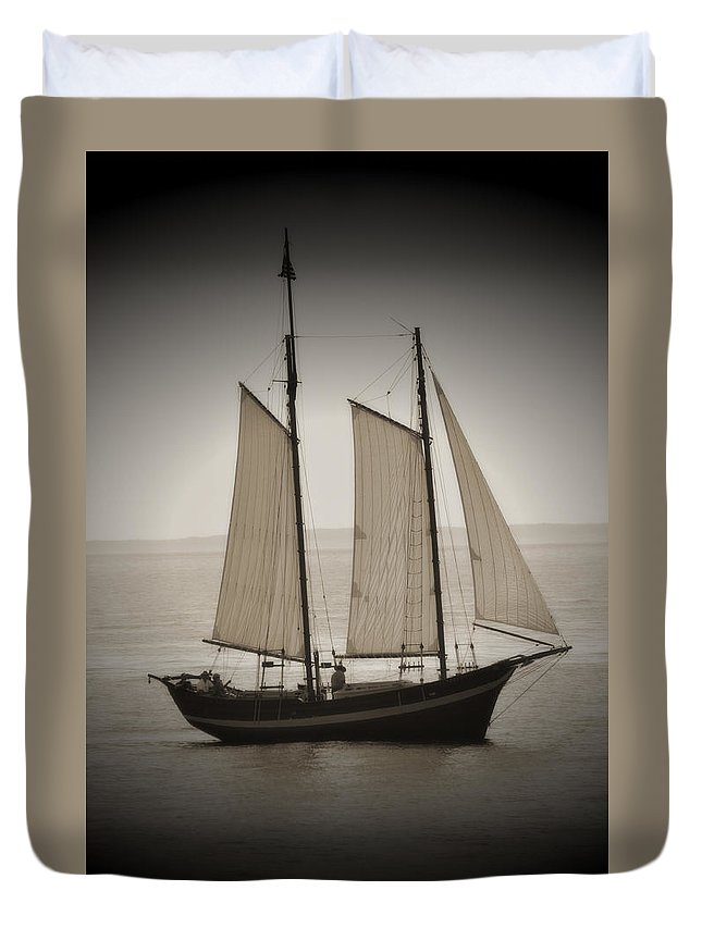 Boat Duvet Cover featuring the photograph The Scooner by Jes Fritze