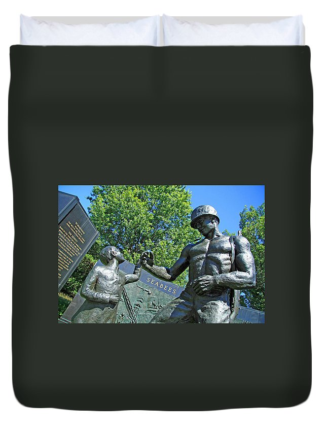 Seabees Duvet Cover featuring the photograph The Seabees At Arlington by Cora Wandel
