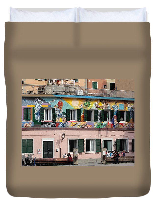 Murals Duvet Cover featuring the photograph The Second Level by Natalie Ortiz