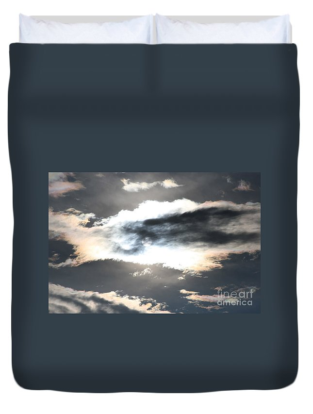 Sharon Mau Duvet Cover featuring the photograph The Secret Sky by Sharon Mau