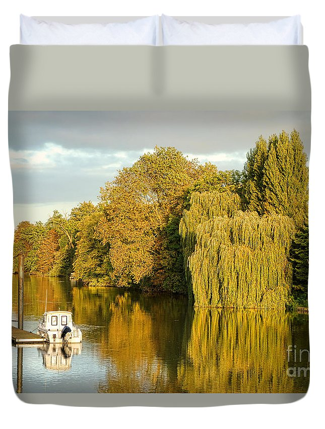 France Duvet Cover featuring the photograph The Seine At Bonnieres by Olivier Le Queinec