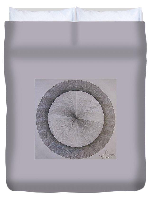 Pi Duvet Cover featuring the drawing The Shape Of Pi by Jason Padgett