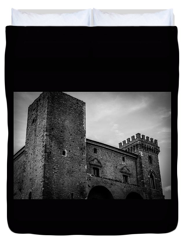 Abruzzo Duvet Cover featuring the photograph The Shattered Fortress by Andrea Mazzocchetti