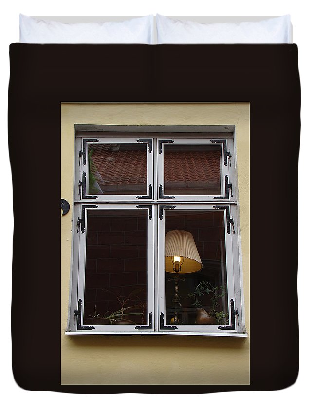 Window Duvet Cover featuring the photograph The Signal by Richard Rosenshein