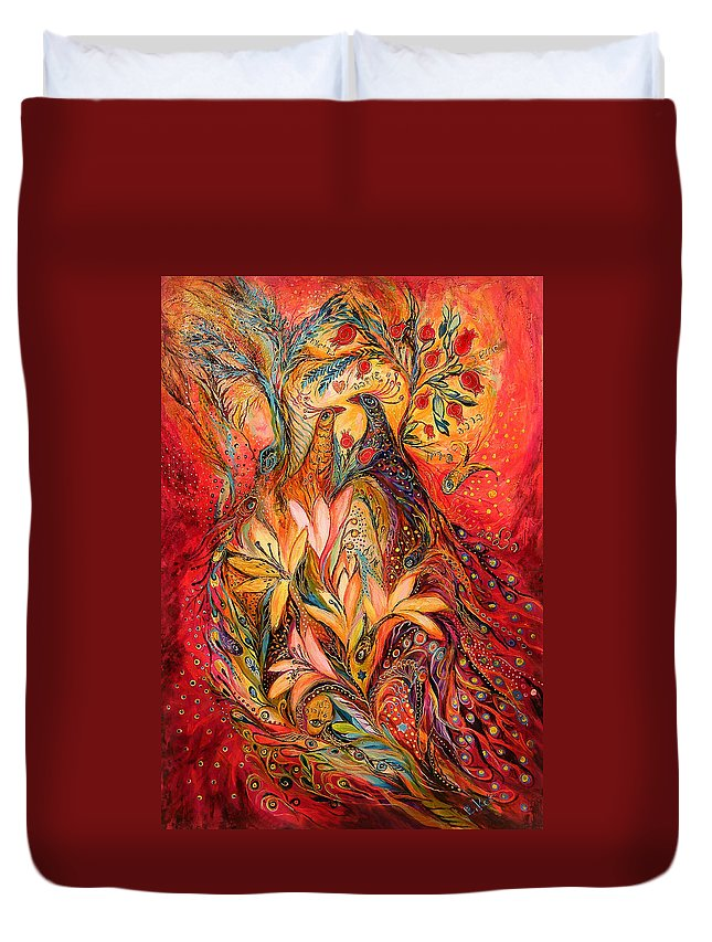Original Duvet Cover featuring the painting The Sirocco by Elena Kotliarker