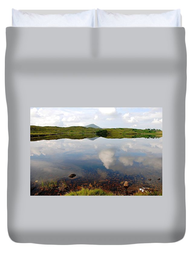 Placid Duvet Cover featuring the photograph The Sky Has Fallen by Charlie and Norma Brock